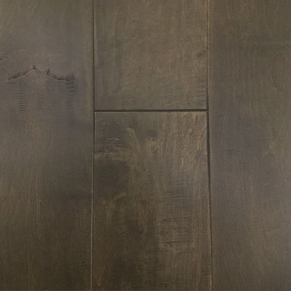 "1/2"" x 7 1/2\"" Handscraped Maple Flooring - Raven"